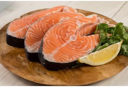 Steack de saumon frais