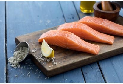 Filet de saumon en portions